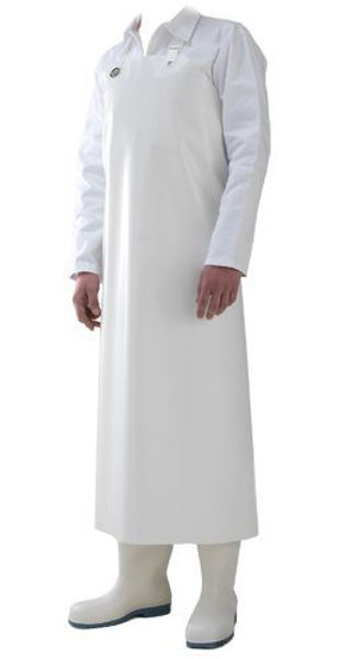 Picture of Manulatex White Food Grade Apron, Metal Clip