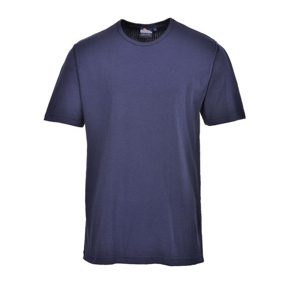 Picture of Thermal T-Shirt Short Sleeve, Navy