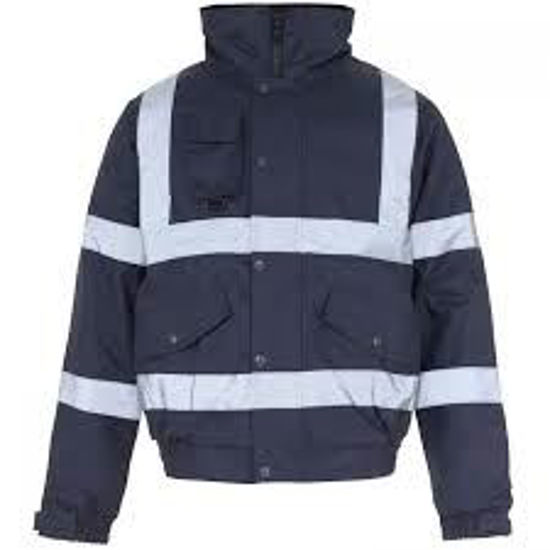 Picture of Supertouch, Hivis Bomber Jacket, Navy