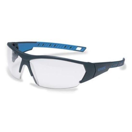 Uvex I-Works Safety Glasses, Anthracite/ Blue, Clear Lens