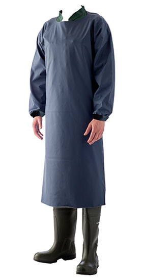 Picture of Manulatex Juliet PU Apron with Sleeves, Blue