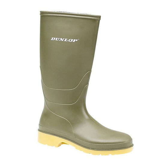 Picture of Kids Dunlop Wellington, Dull Green