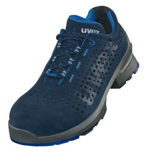 Picture of Uvex 1 Perforated S1 Trainer, Grey/Blue