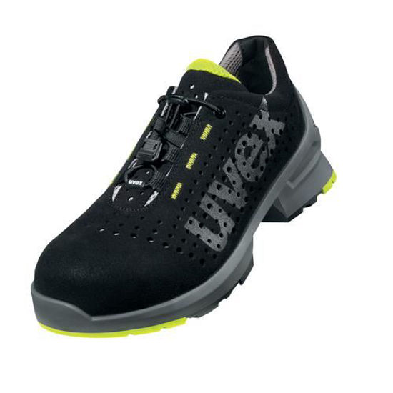 Picture of Uvex 1 Black Laced Trainer Shoe S1, Size:4