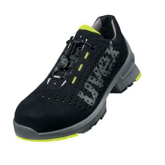 Uvex 1 Black Laced Trainer Shoe S1,