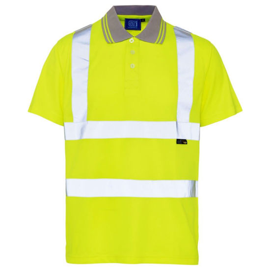 Picture of Hivis Yellow Polo Shirt, Birdseye