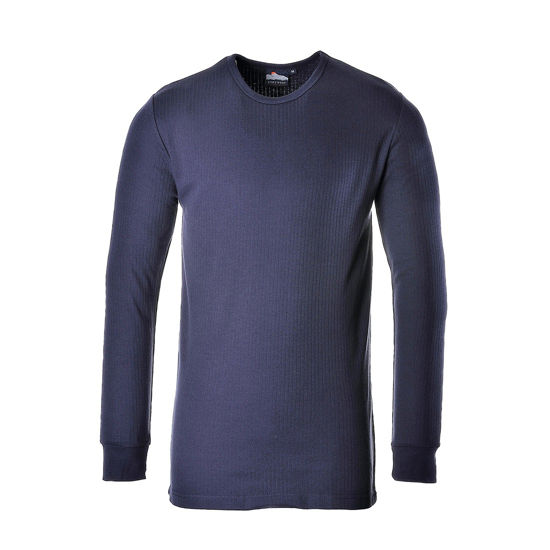 Picture of Thermal Top Long Sleeve, Navy, Size:3Xlarge