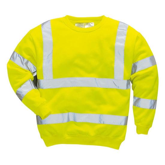 Picture of Portwest Hivis Sweatshirt, Yellow