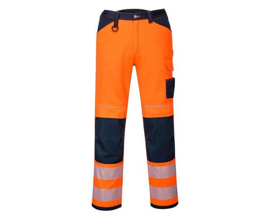 Picture of Pw3 Hi-Vis Holster Work Trouser, Orange/Navy,