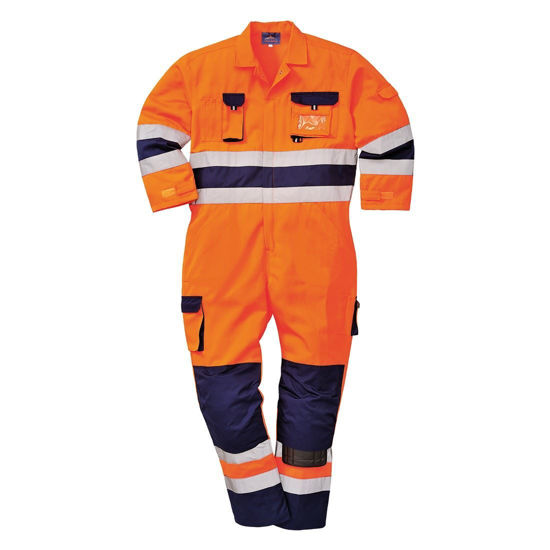 Picture of Nantes Hi-Vis Coverall- Orange/Navy Size: Xlarge