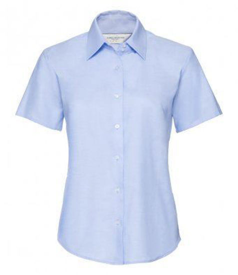 Picture of Russell Ladies Short Sleeve Tailored Oxford Shirt