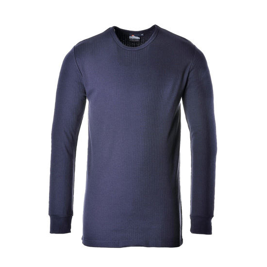 Picture of Thermal Top Long Sleeve, Navy, Size: 4Xlarge