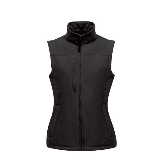 Regatta Ladies Flux Soft Shell Bodywarmer, Black