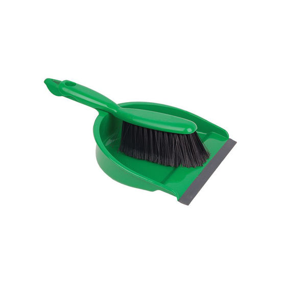Professional Dustpan & Soft Brush Set, Green
