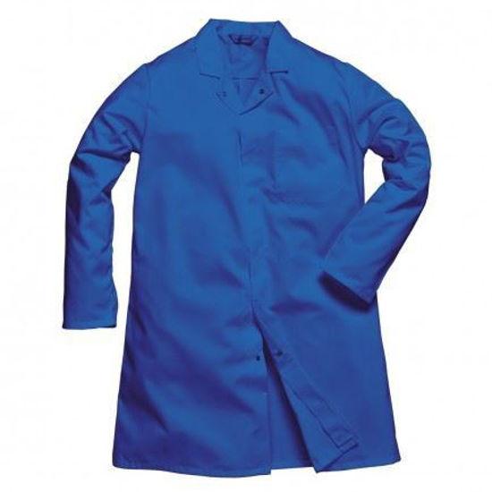 Picture of Portwest Men's Food Coat, Royal Blue