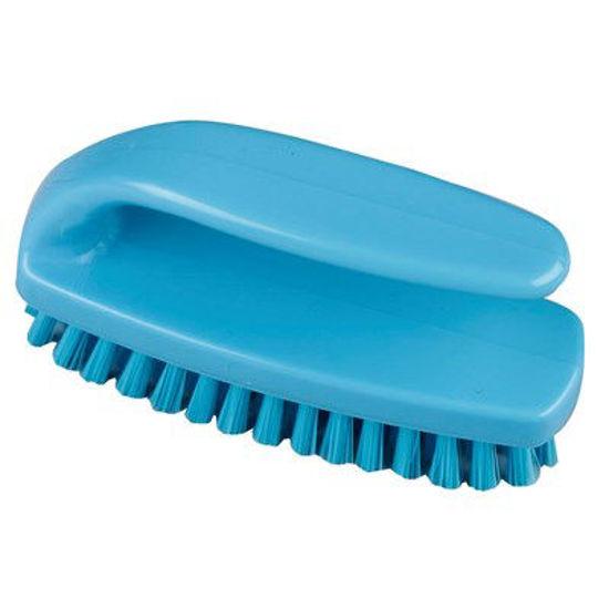 Professional Medium Grippy Nail Brush, Blue