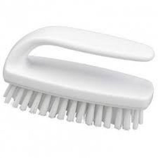 Picture of Professional Medium Grippy Nail Brush, White