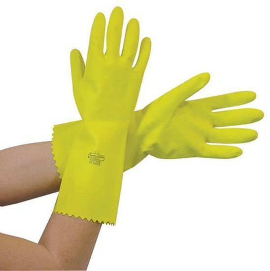 Optima Rubber Glove, Yellow,
