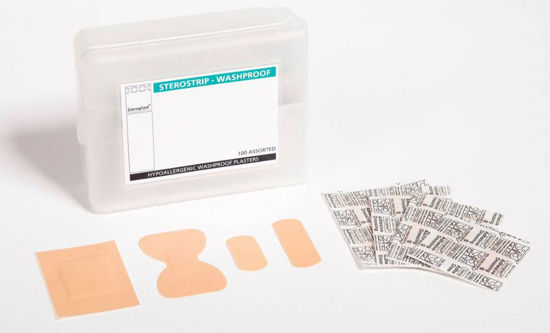 Picture of Sterostrip Hypoallergenic Washproof Plasters, 100/Box