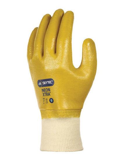 SKYTEC Neon Xtra Nitrile Coated Glove, Yellow