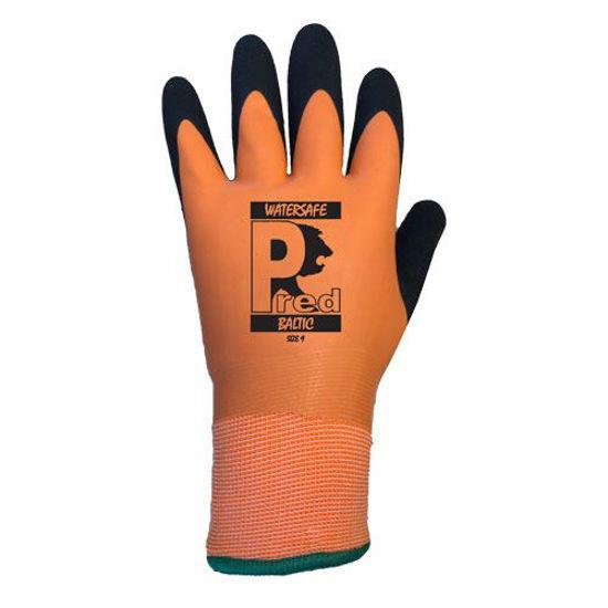 Picture of Pred Baltic Cut 2 Waterproof Glove, Orange/Black