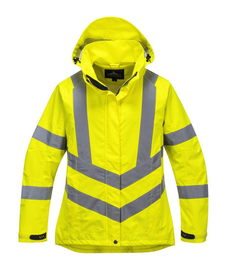 Picture of Portwest Ladies Hivis Breathable Jacket, Yellow