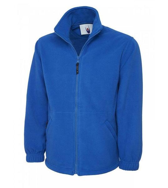Uneek Classic Full Zip Micro Fleece Jacket, Royal Blue, UC604, UC604-RB