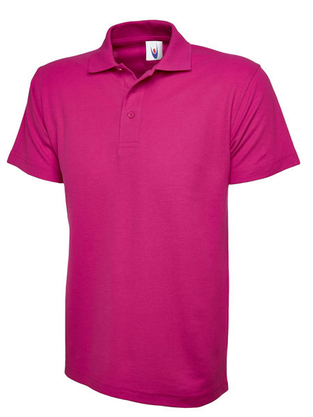 Picture of Uneek Classic Polo Shirt, Hot Pink