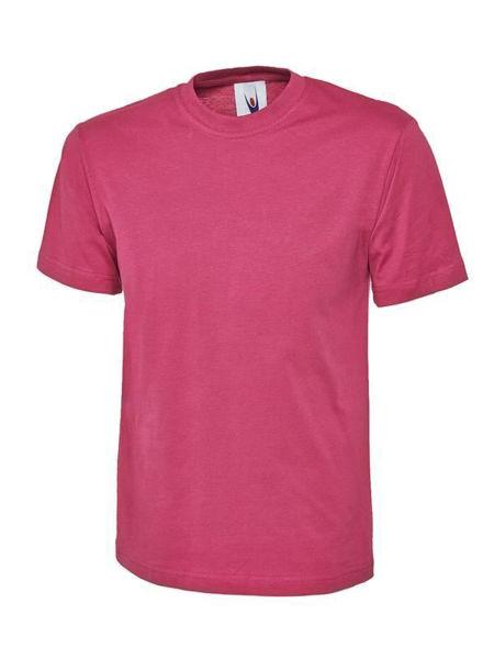 Uneek Classic T-Shirt, Hot Pink