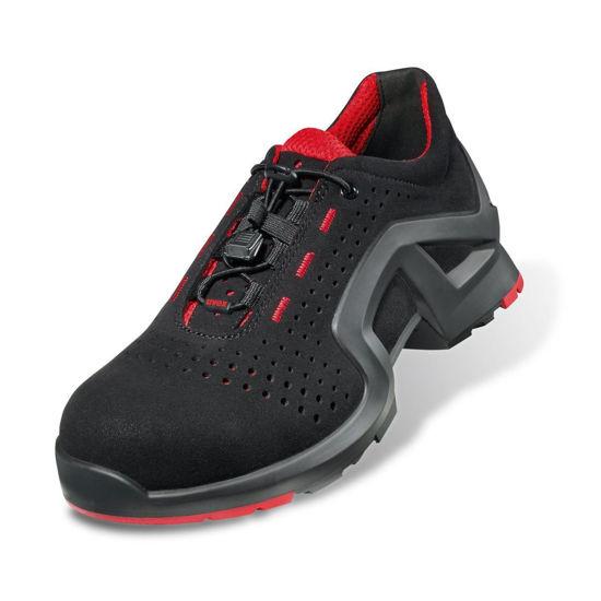 Uvex 1 Black Laced Trainer Shoe, Black/Red