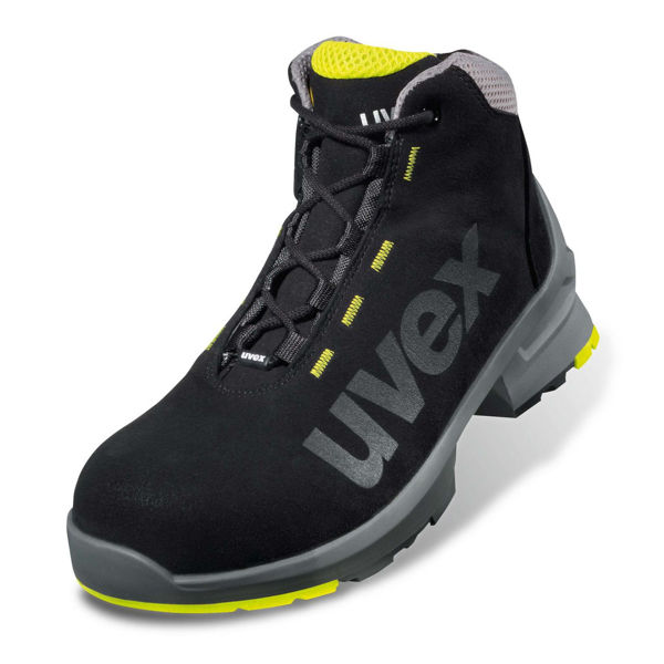 Picture of UVEX 1 BLACK LACED TRAINER BOOT, PAIR, SIZE:8