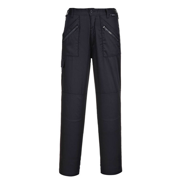 Picture of Portwest Ladies Action Trousers, Black