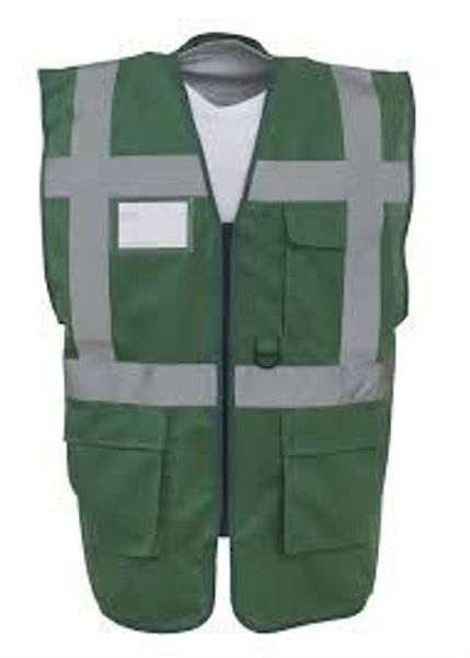 Picture of Yoko  Hivis 2 Band Executive Vest, Paramedic Green