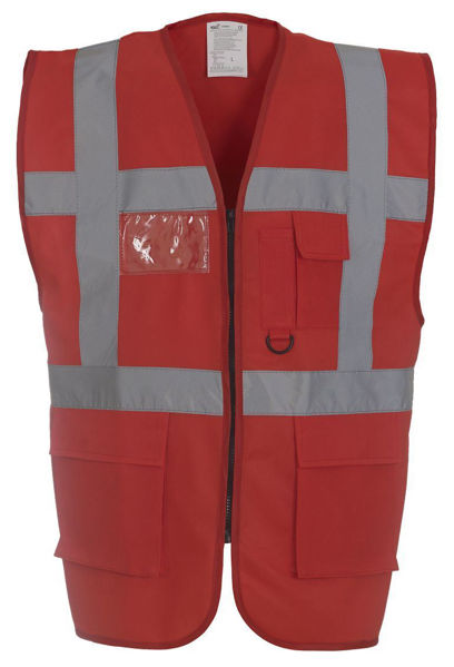 Picture of Yoko Hivis 2 Band Executive Vest, Red
