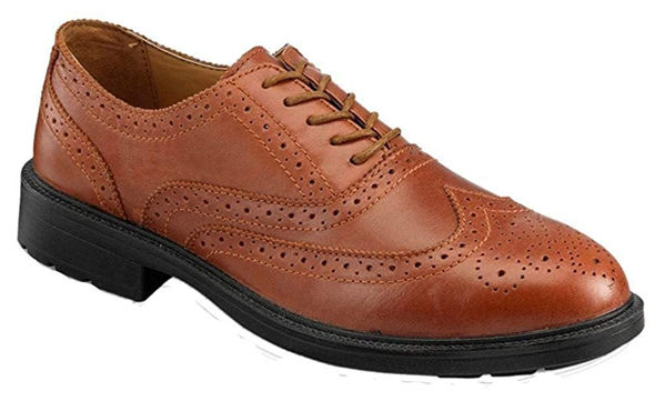 Picture of Men's Executive Brown Safety Brogue