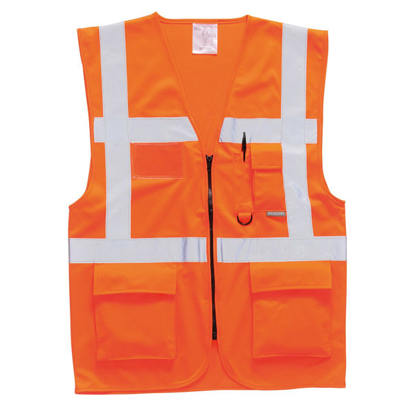 Picture of Hivis Berlin Executive Vest, Orange, Size S