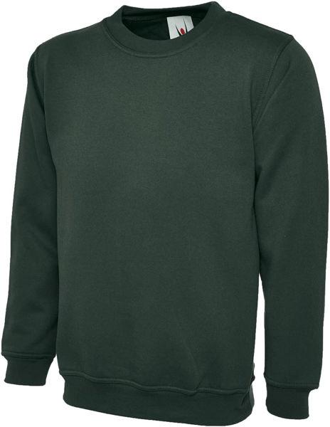 Picture of Uneek Classic Sweatshirt, Bottle Green