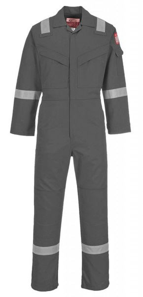 Picture of Portwest Flame Resistant Super Light Weight Anti-Static Coverall, Grey