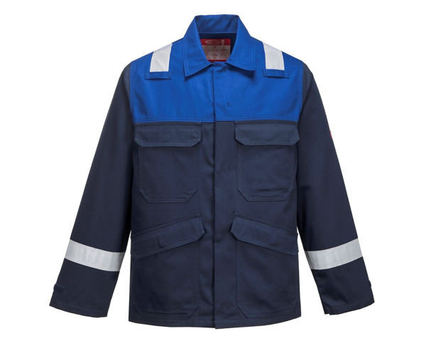 Picture of Portwest Bizflame Plus Jacket, Navy/Royal Blue