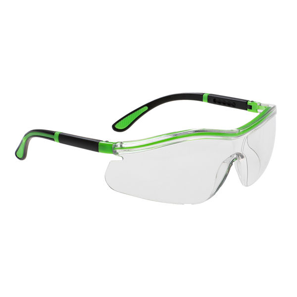 Picture of Portwest Neon Safety Specs, Clear Lens