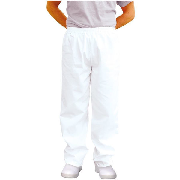 Picture of Portwest food Trouser White, Size: 3Xlarge