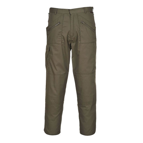 Picture of Portwest Action Trousers, Olive Size: 34R