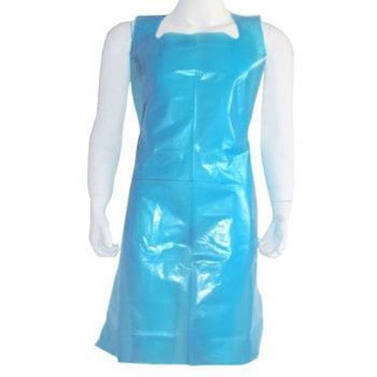 Disposable Flat Blue Apron, (500 Case)