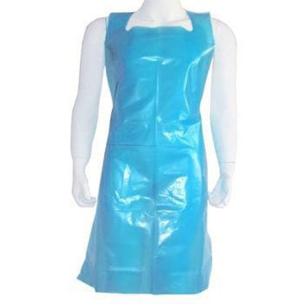 Picture of Disposable Flat Blue Apron, (500 Case)
