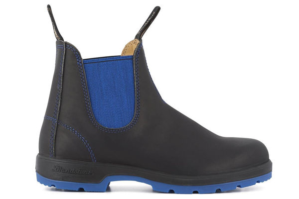 Picture of Blundstone Heritage Black & Blue Slip On Boot, Size:11