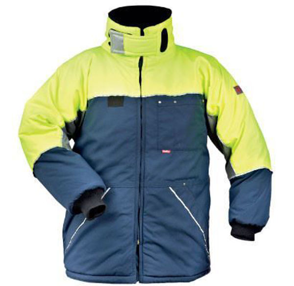 Flexitog Hivis Freezer Jacket, Yellow/Navy,
