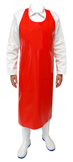 Picture of Red Foodgrade Monobloc Apron TPU material (200 Microns)