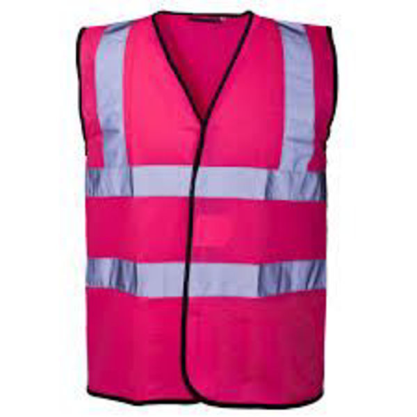 Supertouch Pink Hivis Vest Size: Xlarge
