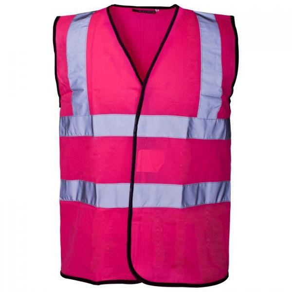 Supertouch Pink Hivis Vest