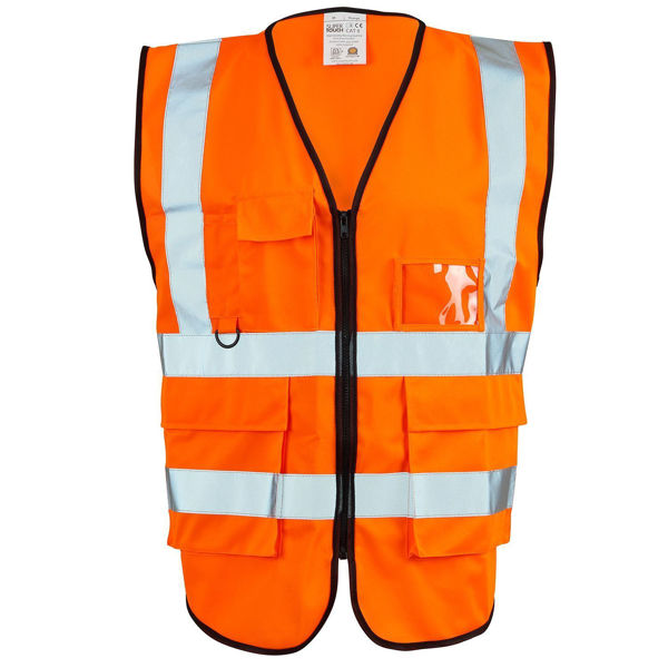 Supertouch Executive Hivis Vest, Orange